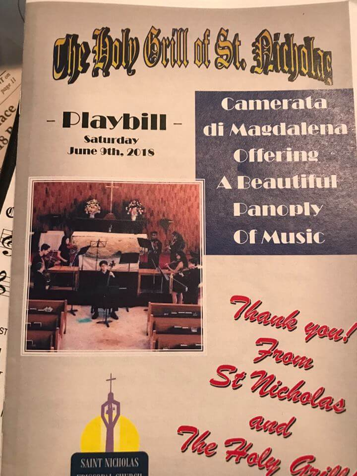 Playbill for Camerata di Magdalena